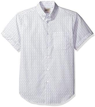Naked & Famous Denim Men's Spring Flower Print Short Sleeve Button Down Shirt