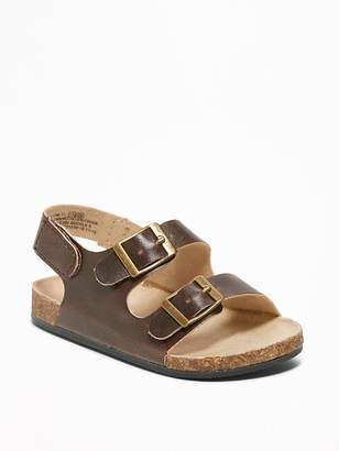 Old Navy Faux-Leather Buckled-Strap Sandals for Baby