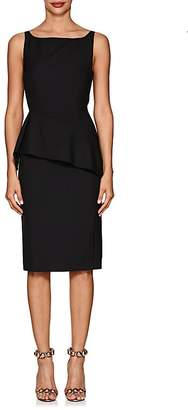Narciso Rodriguez Women's Wool Fitted Peplum Dress