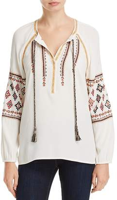 Daniel Rainn Embroidered Peasant Blouse