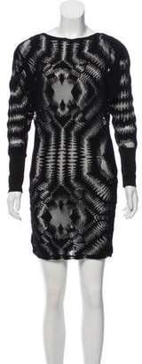 Jean Paul Gaultier Long Sleeve Bodycon Dress