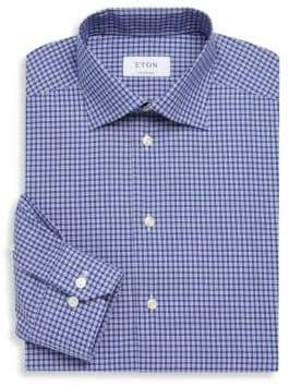 Eton Plaid Cotton Dress Shirt