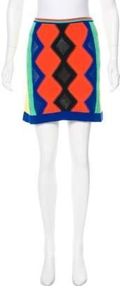 Versus Colorblock Knit Skirt