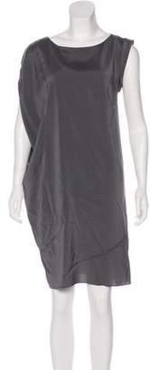 Brunello Cucinelli Asymmetrical Sleeve Knee-Length Dress