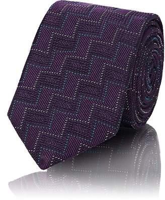 Barneys New York Men's Zigzag Silk Jacquard Necktie