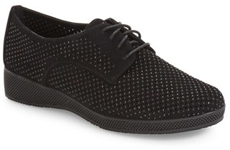 VANELi Aleria Crystal Embellished Perforated Oxford (Women) $149.95 thestylecure.com