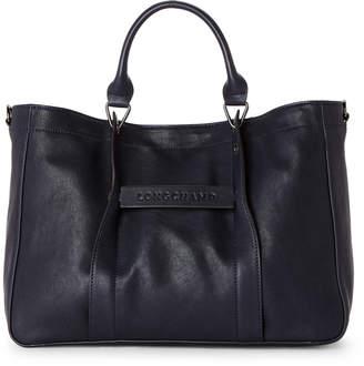 Longchamp Navy 3D Medium Leather Satchel