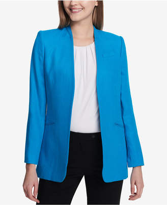 Calvin Klein Tweed Flyaway Blazer, Regular & Petite