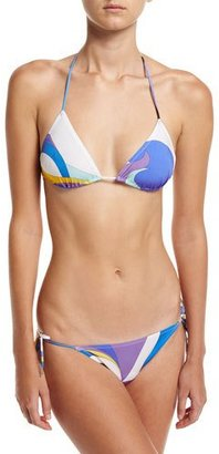 Emilio Pucci Maschere Two-Piece String Bikini, White Pattern $395 thestylecure.com