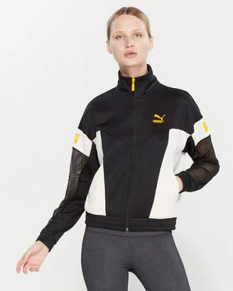 Puma Flourish Color Block Mesh Track Jacket