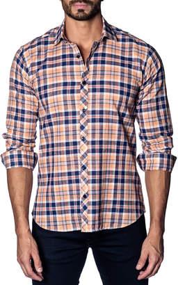 Jared Lang Semi-Fitted Long-Sleeve Sport Shirt OT-410