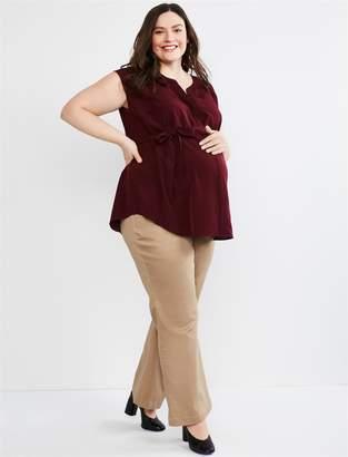 44adfbcdcb3a2 Motherhood Maternity Plus Size Secret Fit Belly Twill Boot Cut Maternity  Pants