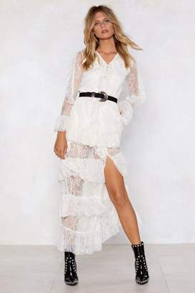 Nasty Gal When It All Falls into Lace Maxi Dress