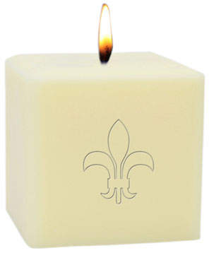 "Carved Solutions 3"" Eco-Luxury Fleur de Lys Soy Candle"