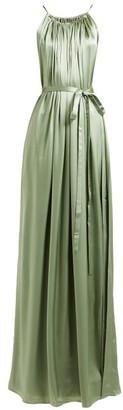 Carl Kapp - Maldives Gathered Neck Silk Satin Gown - Womens - Light Green