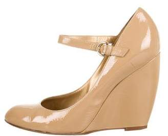 Sergio Rossi Patent Leather Wedge Pumps