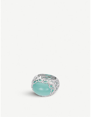 BUCHERER JEWELLERY Lacrima 18ct white-gold and stone ring