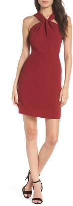 19 Cooper Lace Back Halter Sheath Dress