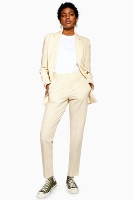 Topshop Womens Cream Suit Trousers - Cream