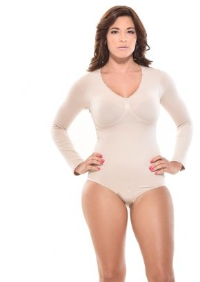 Your Contour Seamless Body Shaper - Body Briefer Shapewear, Tummy Control Bodysuit with Arm Shapewear - Body Slimmer