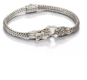John Hardy Naga 18K Yellow Gold & Sterling Silver Dragon Bracelet $595 thestylecure.com