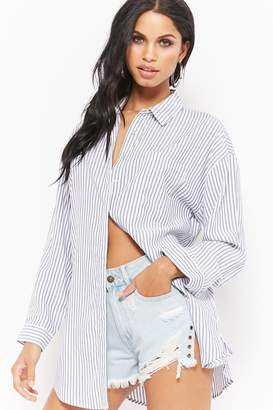 Forever 21 Pinstriped Shirt Dress