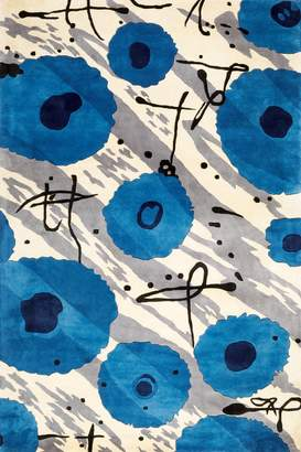Momeni Rugs KOI00KO-07BLU80B0 Koi Collection, 100% Wool Hand Carved & Tufted Transitional Area Rug, 8' x 11'