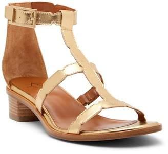 Aquatalia Risa Metallic Leather Caged Low Sandal
