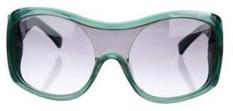 Marni Acetate Shield Sunglasses