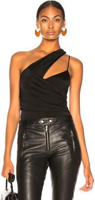 Michelle Mason Asymmetrical Gathered Bodysuit