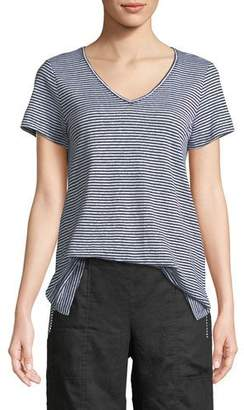 Eileen Fisher Organic Linen Striped Jersey Top