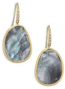 Marco Bicego Diamond Lunaria Drop Earrings With Black Mother-Of-Pearl