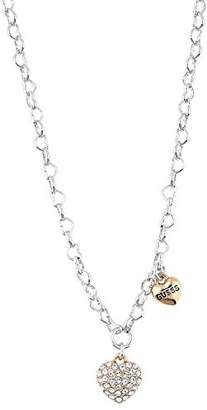 GUESS Women Pink Pendant Necklace of Length 42cm UBN81196