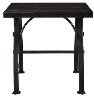 Williston Forge Delanie Wood and Metal End Table