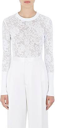 Givenchy Women's Lace-Knit Crewneck Sweater - White
