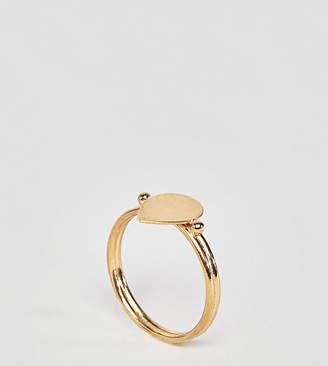 Asos Design DESIGN Gold Plated Sterling Silver Sleek Teardrop Ring