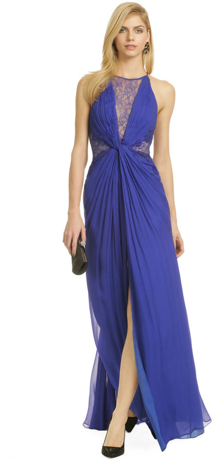 BCBGMAXAZRIA Cloud Swirl Gown