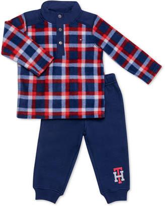 Tommy Hilfiger Baby Boys 2-Pc. Fleece Top & Jogger Pants Set
