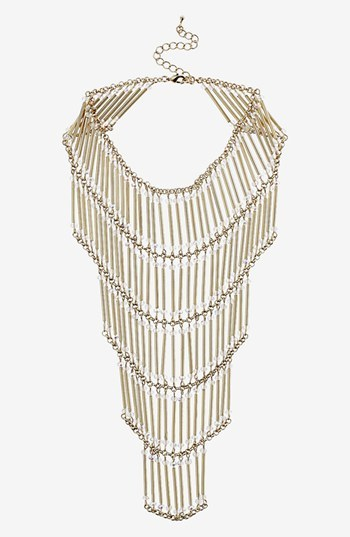 Topshop Tiered Beaded Necklace