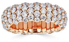 ZYDO 18k Rose Gold Diamond Stretch Ring