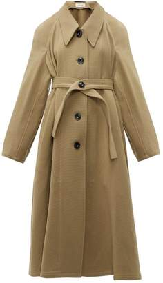 Lemaire Oversized Point Collar Wool Coat - Womens - Camel