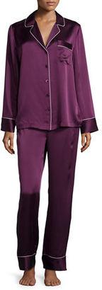 Neiman Marcus Silk Satin Two-Piece Pajama Set $190 thestylecure.com