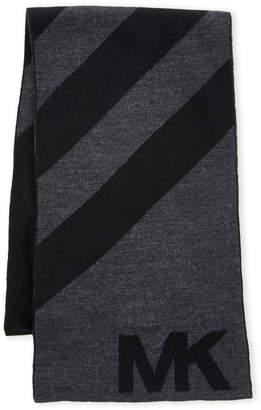 Michael Kors Striped Logo Scarf