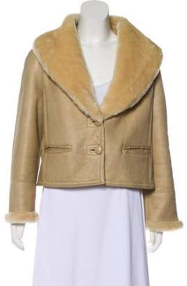 Marc Jacobs Leather Faux Shearling Jacket