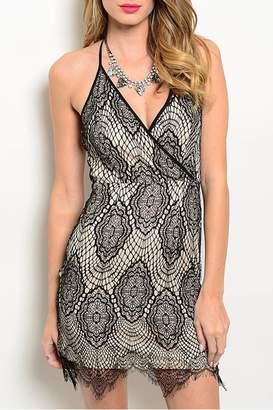 Soieblu Black Tan Dress
