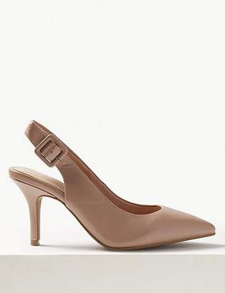Marks and Spencer Extra Wide Fit Stiletto Heel Slingback Shoes