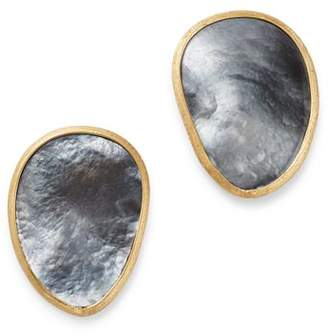 Marco Bicego 18K Yellow Gold Lunaria Black Mother of Pearl Stud Earrings