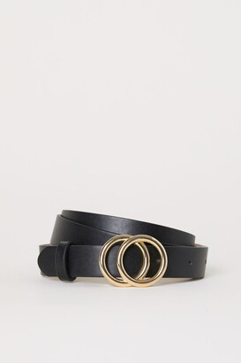 H&M Narrow Belt - Black