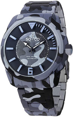 Co SO & So & Mens Blue Bracelet Watch-Jp15040