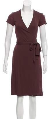 Diane von Furstenberg Cap Sleeve Wrap Dress